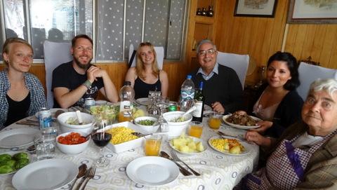Mittagessen mit Familie Ruiz Cisternas
